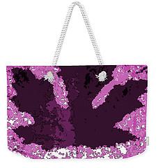 Maple Leaf Purple Pop Poster Hues  Weekender Tote Bag
