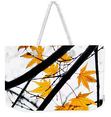 Maple Leaves Weekender Tote Bag by Jonathan Nguyen