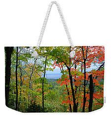 Weekender Tote Bag featuring the photograph Maples Against Lake Superior - Tettegouche State Park by Cascade Colors