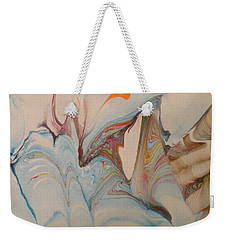 Weekender Tote Bag featuring the painting Marble 24 by Mike Breau