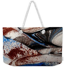 Weekender Tote Bag featuring the painting Marble 4 by Mike Breau