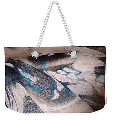 Weekender Tote Bag featuring the painting Marble 7 by Mike Breau