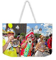 Weekender Tote Bag featuring the photograph Marching Band by Ed Weidman