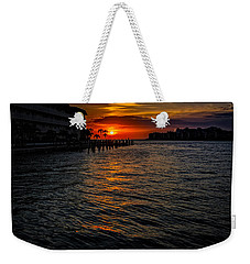 Weekender Tote Bag featuring the photograph Marco Island Sunset 43 by Mark Myhaver