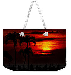 Weekender Tote Bag featuring the photograph Marco Island Sunset 59 by Mark Myhaver