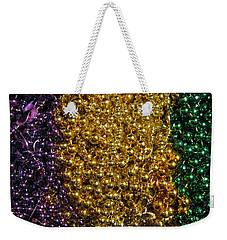 Mardi Gras Beads - New Orleans La Weekender Tote Bag by Deborah Lacoste