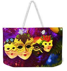 Mardi Gras Christmas Weekender Tote Bag