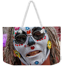 Mardi Gras Happy Face Weekender Tote Bag by Luana K Perez