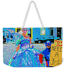 Mardi Gras New Orleans Weekender Tote Bag by Luana K Perez
