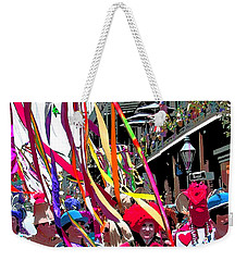 Mardi Gras Marching Parade Weekender Tote Bag by Luana K Perez
