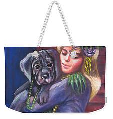 Mardi Gras Puppy Weekender Tote Bag