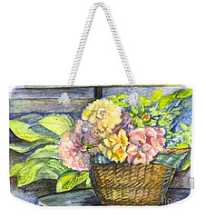 Marias Basket Of Peonies Weekender Tote Bag