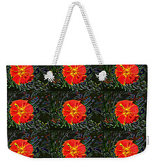 Weekender Tote Bag featuring the photograph Marigold Mighty by Kathy Bassett