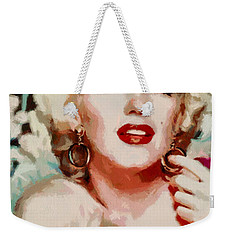 Marilyn Monroe In Red Dress Weekender Tote Bag