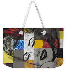 Weekender Tote Bag featuring the painting Marilyn In Abstract by Malinda  Prudhomme