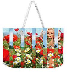 Marilyn In Poppies 1 Weekender Tote Bag