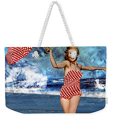 Marilyn Monroe - On The Beach Weekender Tote Bag