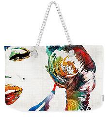 Weekender Tote Bag featuring the painting Marilyn Monroe Painting - Bombshell - By Sharon Cummings by Sharon Cummings