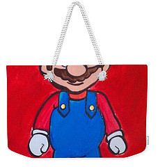 Weekender Tote Bag featuring the painting Mario by Marisela Mungia
