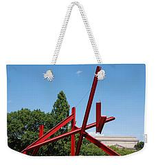 Mark Di Suvero Steel Beam Sculpture Weekender Tote Bag