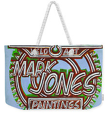Mark Jones Velo Art Painting Blue Weekender Tote Bag
