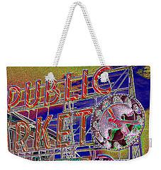 Market Clock 1 Weekender Tote Bag