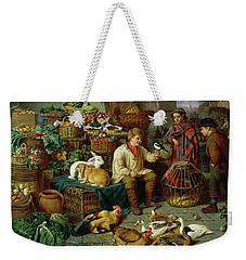 Market Scene Weekender Tote Bag by Henry Charles Bryant
