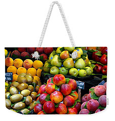 Market Time Weekender Tote Bag by Sue Melvin