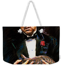 Marlon Brando The Godfather Weekender Tote Bag