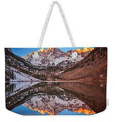 Maroon Bells Alpenglow Weekender Tote Bag