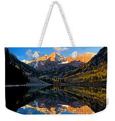 Maroon Bells Landscape Weekender Tote Bag