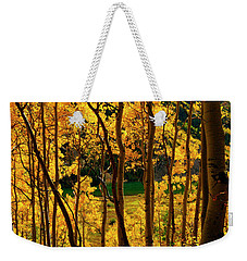 Maroon Lake Gold Weekender Tote Bag by Jeremy Rhoades