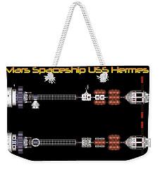 Mars Spaceship Hermes1 Weekender Tote Bag