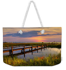 Marsh Harbor Weekender Tote Bag by Debra and Dave Vanderlaan