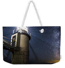 Marshall Lighthouse And The Night Sky Weekender Tote Bag