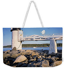 Marshall Point Light-sq Weekender Tote Bag