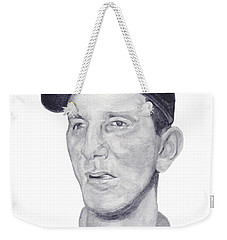 Weekender Tote Bag featuring the painting Martin by Tamir Barkan