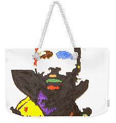 Weekender Tote Bag featuring the painting Marvin Gaye by Stormm Bradshaw