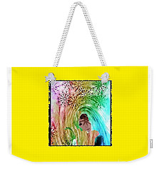 Weekender Tote Bag featuring the digital art Mary In The Field by Ann Calvo