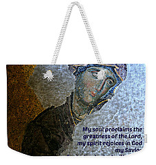 Mary's Magnificat Weekender Tote Bag