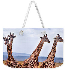 Masai Giraffe Weekender Tote Bag by Adam Romanowicz