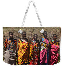 Weekender Tote Bag featuring the photograph Masai Women Chorus by Tom Wurl
