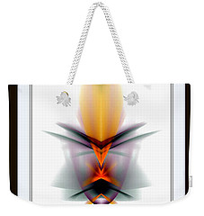 Weekender Tote Bag featuring the mixed media Mask by Rafael Salazar