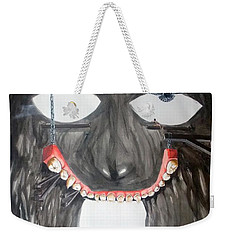Weekender Tote Bag featuring the painting Masquera Carcaza  by Lazaro Hurtado