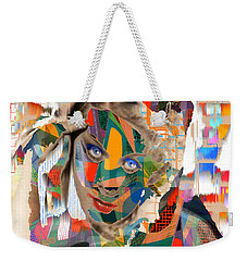Weekender Tote Bag featuring the digital art Masquerade by Seth Weaver