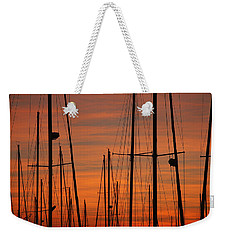 Masts At Sunset Weekender Tote Bag