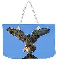 Mating Kestrels Weekender Tote Bag
