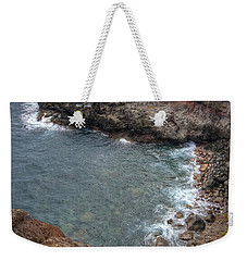 Weekender Tote Bag featuring the photograph Maui Cliff by Bryan Keil