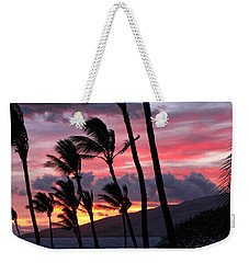 Maui Sunset Weekender Tote Bag by Peggy Hughes