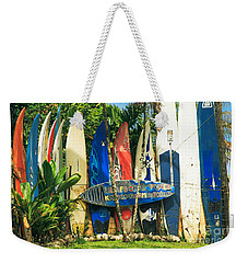 Maui Surfboard Fence - Peahi Hawaii Weekender Tote Bag